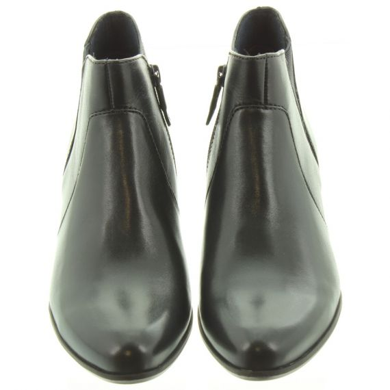 TAMARIS Ladies 25353 Heeled Ankle Boots In Navy