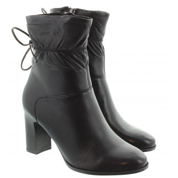 TAMARIS Ladies 25368 Heeled Ankle Boots In Black