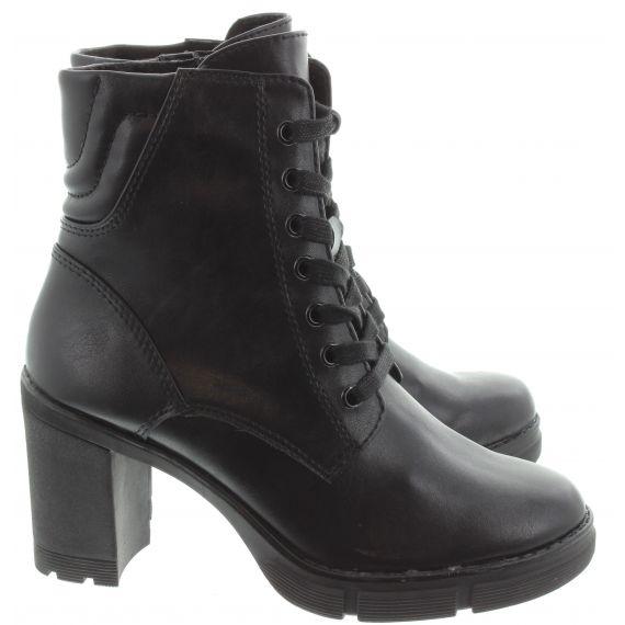 MARCO_TOZZI Ladies 25712 Heel Ankle Boot in Black