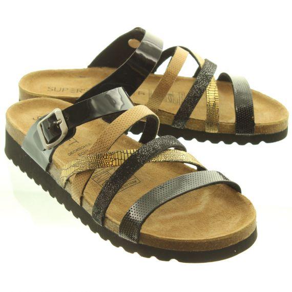 JAKE Ladies 274244 Sandals In Black Multi