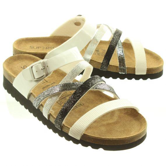 JAKE Ladies 274244 Sandals In White Multi