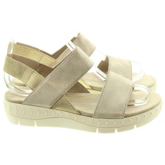 MARCO TOZZI Ladies 28522 Flat Sandals In Dune