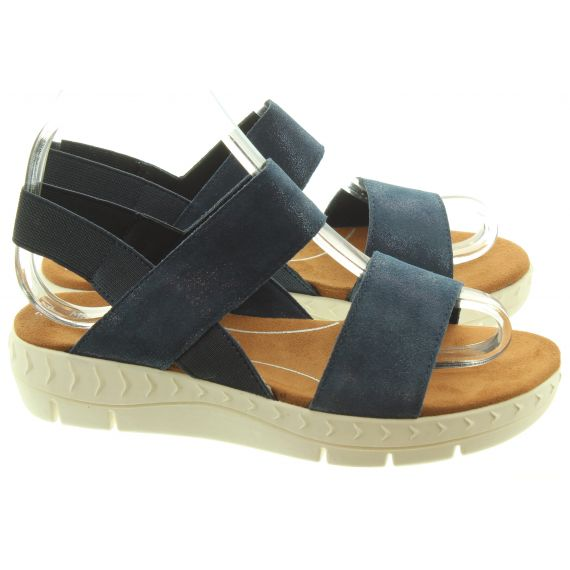 MARCO TOZZI Ladies 28522 Flat Sandals In Navy