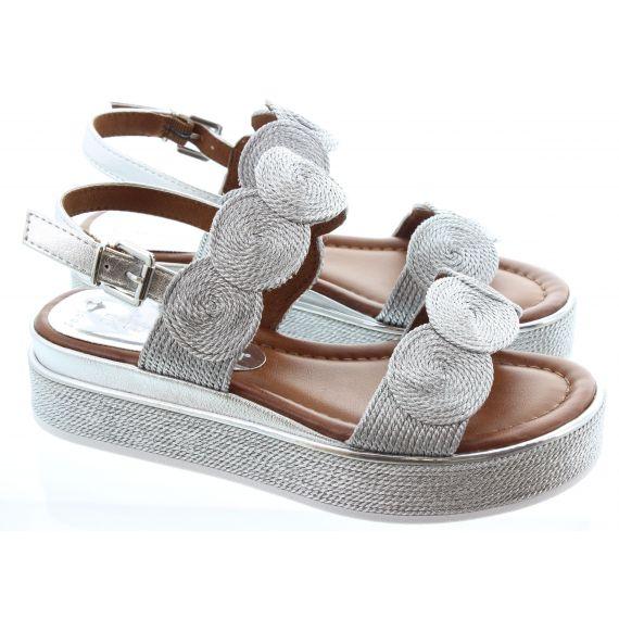 MARCO_TOZZI Ladies 28760 Flatform Sandal in Silver
