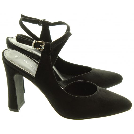 MARCO_TOZZI Ladies 29613 Full Toe Sandals In Black