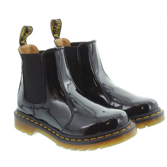 DR MARTENS Ladies 2976 Patent Chelsea Boots In Black Patent