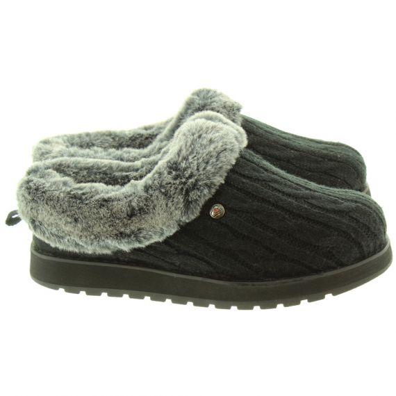SKECHERS Ladies 31204 Slippers In Black
