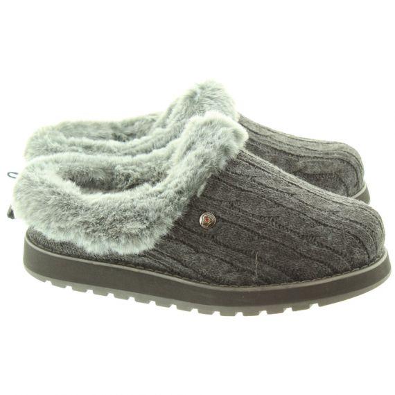 SKECHERS Ladies 31204 Slippers In Charcoal