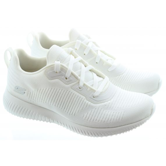 SKECHERS Ladies 32504 Bobs Lace Up in White