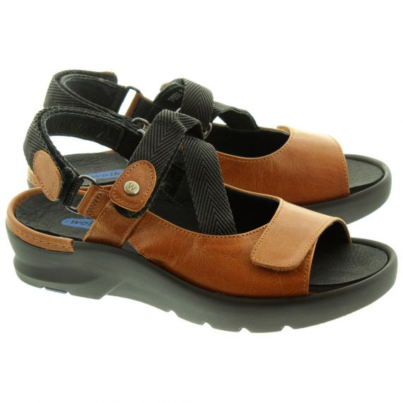 WOLKY Ladies 3925 Lisse Sandals In Cognac