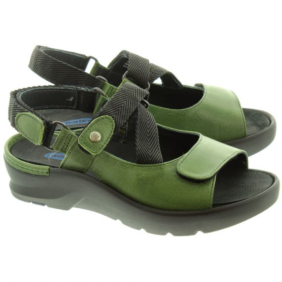WOLKY Ladies 3925 Lisse Sandals In Green