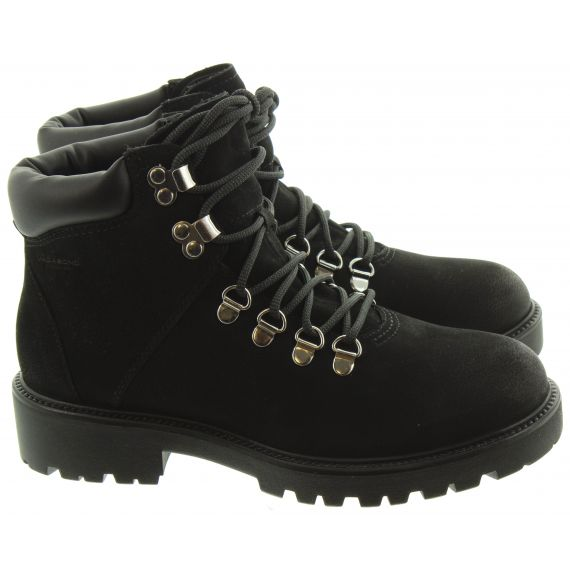 VAGABOND Ladies 4457 Lace Hiker Boots In Black