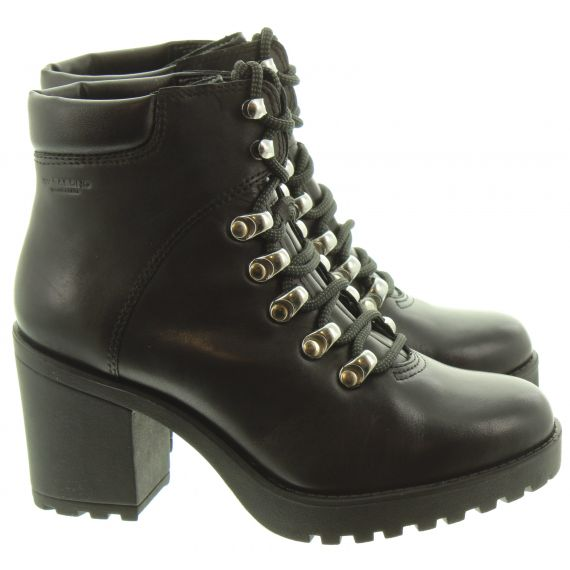 VAGABOND Ladies 4658 Heel Hiker Boots In Black