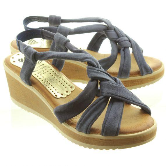 MARILA Ladies 539SSEC25 Sandals In Navy Suede