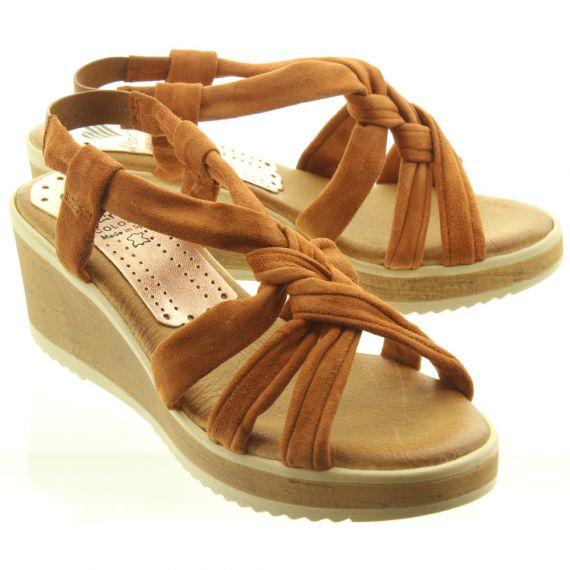 MARILA Ladies 539SSEC25 Sandals In Tan Suede