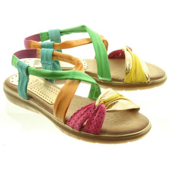 MARILA Ladies 601EM25 Flat Sandals In Multicoloured