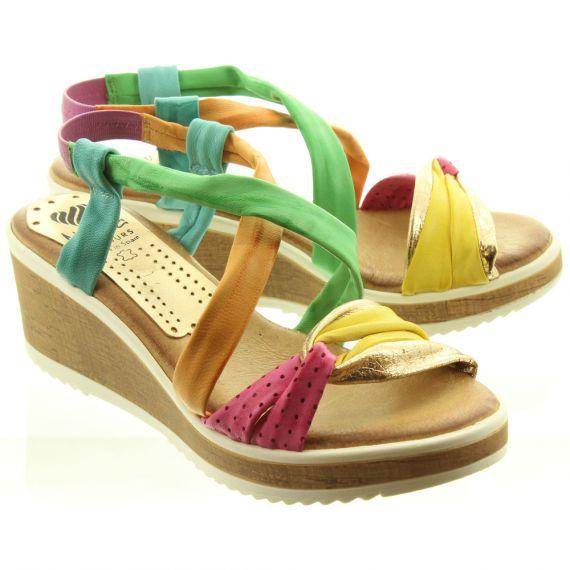 MARILA Ladies 601SEC25 Wedge Sandals In Mulitcoloured