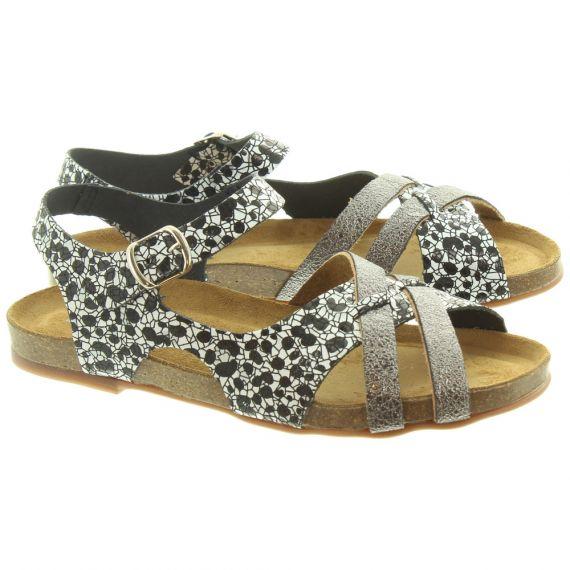TRISOLES Ladies 6305 Flat Sandals In Black