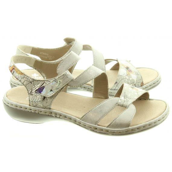 RIEKER Ladies 65969 Sandals In Ice
