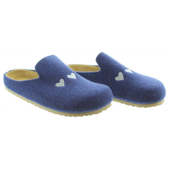 ADESSO Ladies Adesso Poppy 3 Slippers in Navy
