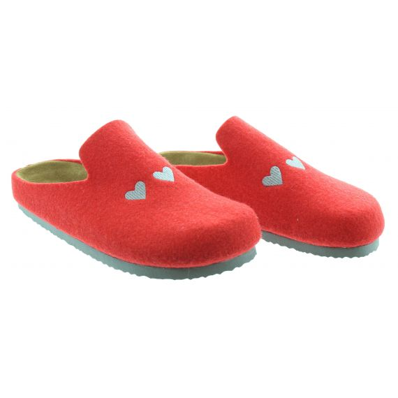 ADESSO Ladies Adesso Poppy 3 Slippers in Red