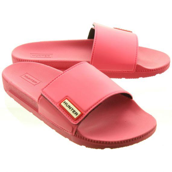 HUNTER Ladies Adjustable Slide Mules In Light Pink