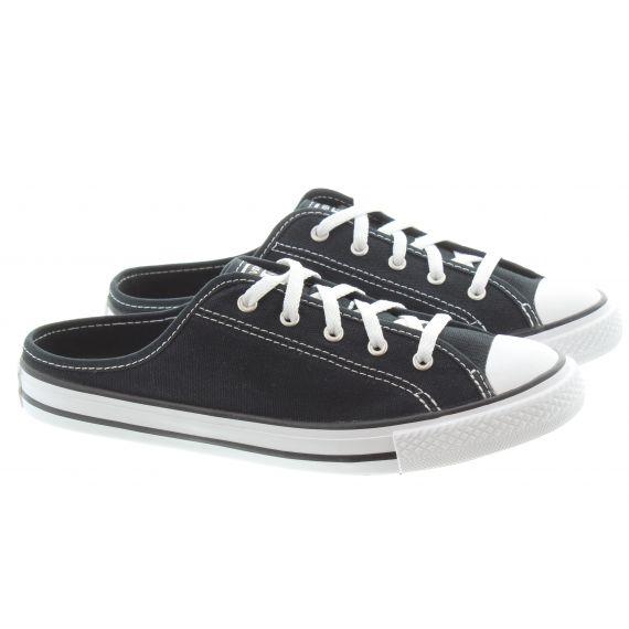 CONVERSE Ladies All Star Dainty Mule Slip Shoes In Black