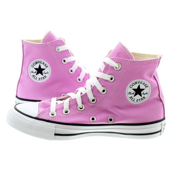 CONVERSE Ladies All Star Hi Boots In Peony Pink