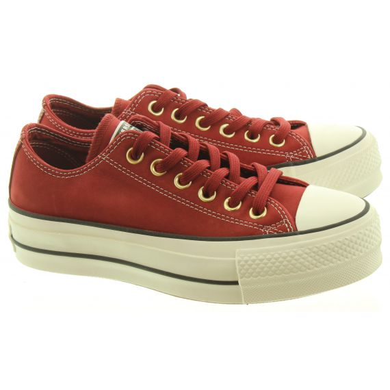 CONVERSE Ladies Allstar Lift Ox Shoes In Bric