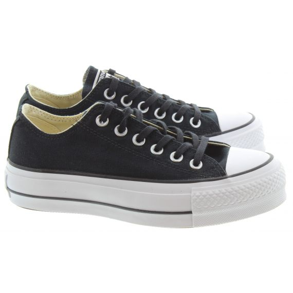 CONVERSE Ladies Allstar Lift Ox Shoes In Black