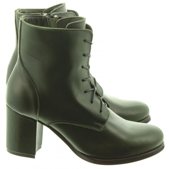 Ladies Ang07 Ankle Boots In Green