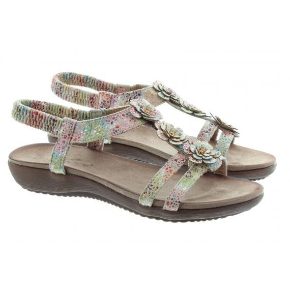 LUNAR Ladies Annalisa Flower Sandals In Beige