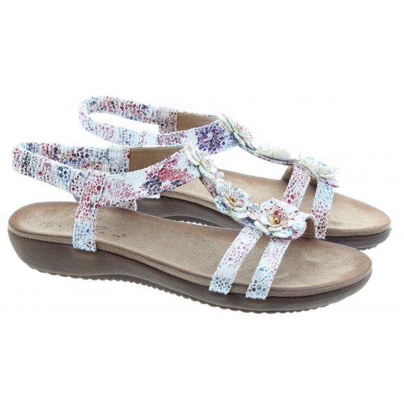 LUNAR Ladies Annalisa Flower Sandals In White