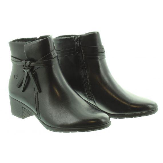 HEAVENLY FEET Ladies Annie Heel Ankle Boot in Black