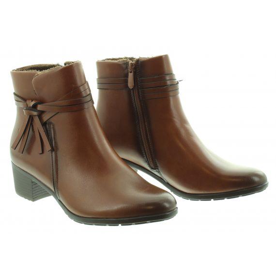 HEAVENLY FEET Ladies Annie Heel Ankle Boot in Tan
