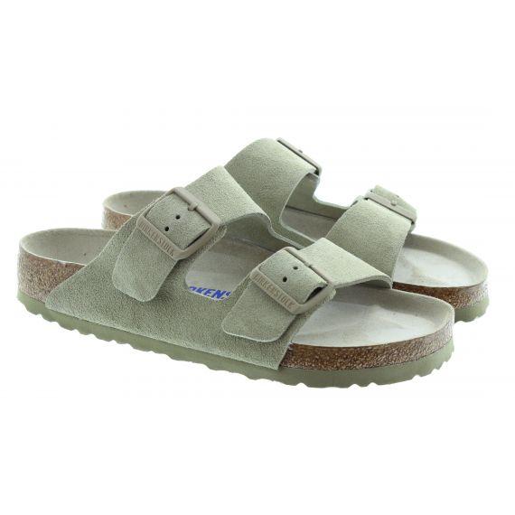 BIRKENSTOCK Ladies Arizona Suede Sandals In Khaki