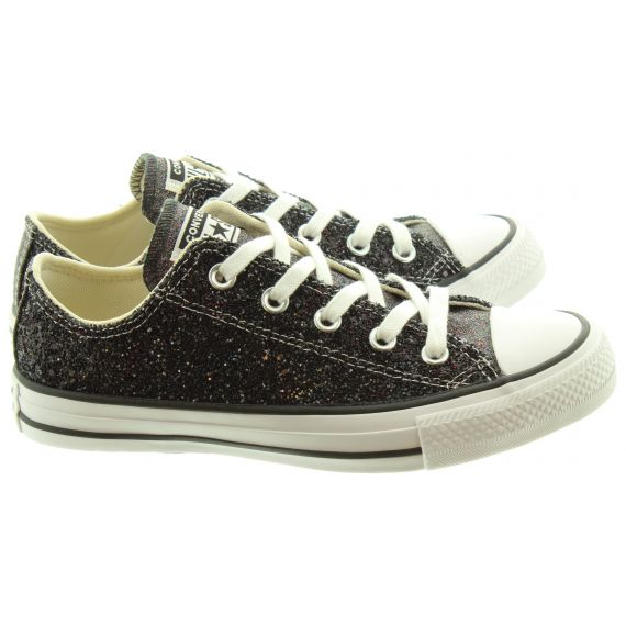 CONVERSE Ladies AS Glitter Ox Shoes In Black