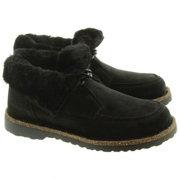 BIRKENSTOCK Ladies Bakki Ankle Boots In Black Suede