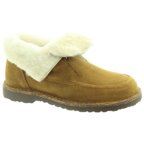 BIRKENSTOCK Ladies Bakki Ankle Boots In Tan Suede