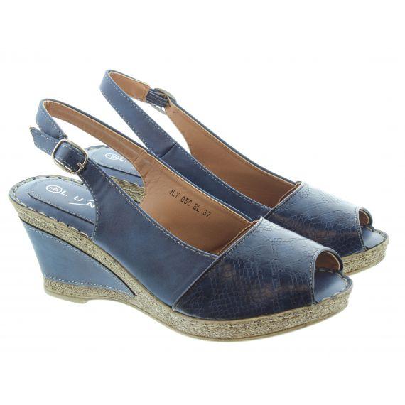 LUNAR Ladies Barnes Wedge Sandals In Blue
