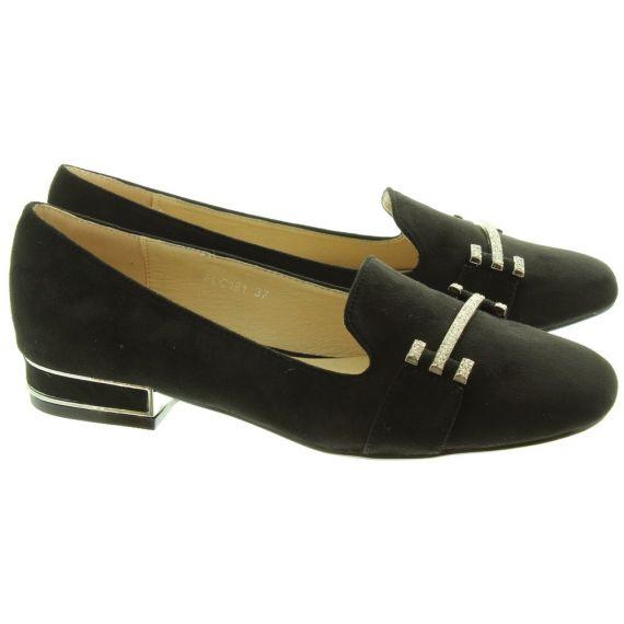LUNAR Ladies Beattie Loafers In Black