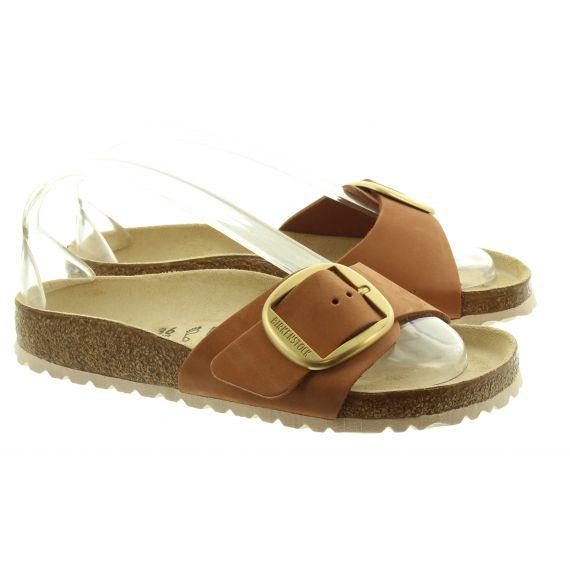 BIRKENSTOCK Ladies Birkenstock Big Buckle Leather Sandals In Tan