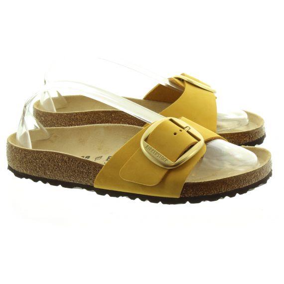 BIRKENSTOCK Ladies Birkenstock Big Buckle Leather Sandals In Mustard
