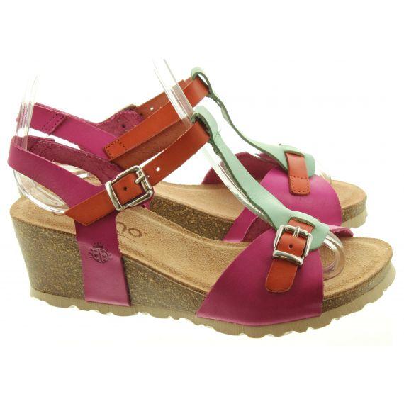 YOKONO Ladies Cadiz 112 Wedge Sandals In  Multi
