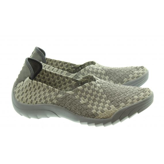ADESSO Ladies Caitlin Slip On Shoes In Grey