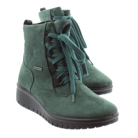 WESTLAND Ladies Calais 08 Waterproof Lace Ankle Boots In Petrol