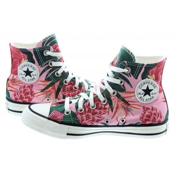 CONVERSE Ladies Chuck Taylor All Star Hi Jungle Boots In Multi
