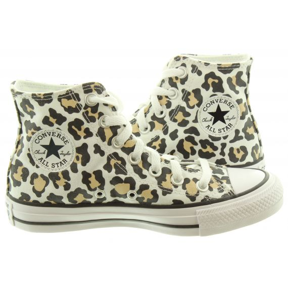 CONVERSE Ladies Chuck Taylor Allstar Pocket Boots In Leopard
