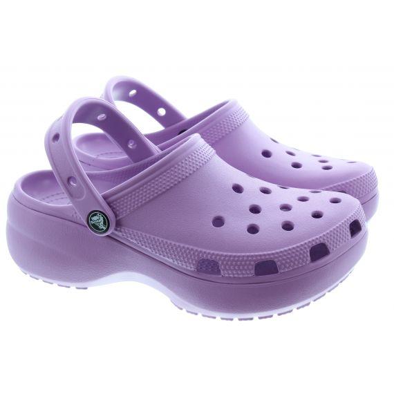 CROCS Ladies Classic Platform Sandals In Orchard