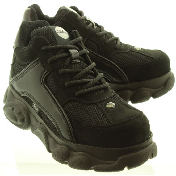 BUFFALO Ladies Colby Trainers In Black